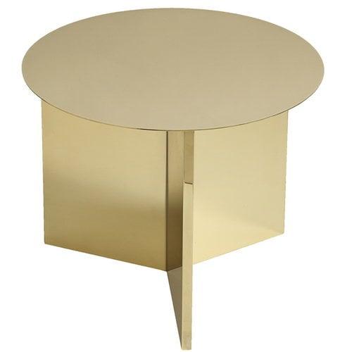 Hay Slit table Round, brass