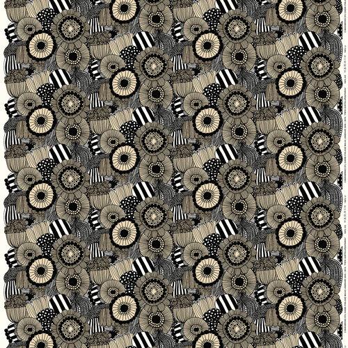 Marimekko Pieni Siirtolapuutarha fabric, light beige