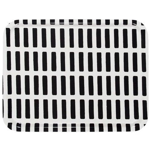 Artek Siena tarjotin, valko-musta, 43 x 33 cm