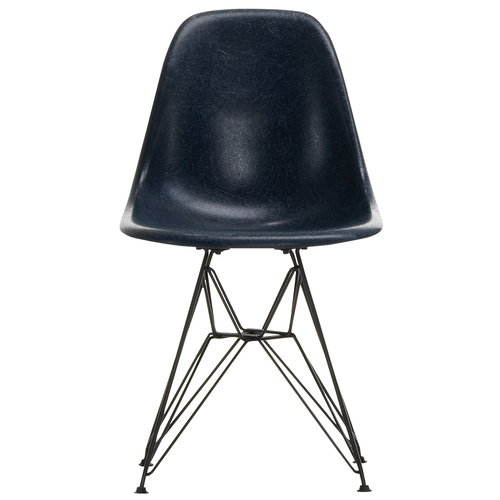 Vitra Eames DSR Fiberglass Chair, navy blue - black
