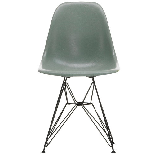 Vitra Eames DSR Fiberglass Chair, sea foam green - black