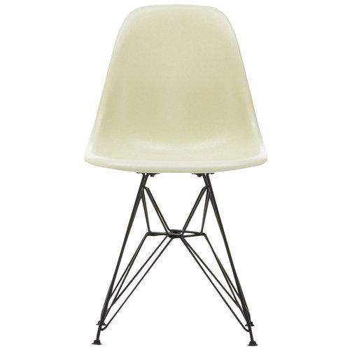 Vitra Eames DSR Fiberglass tuoli, parchment - musta