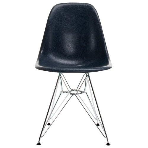 Vitra Eames DSR Fiberglass tuoli, navy blue - kromi