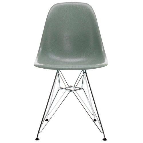 Vitra Eames DSR Fiberglass Chair, sea foam green - chrome