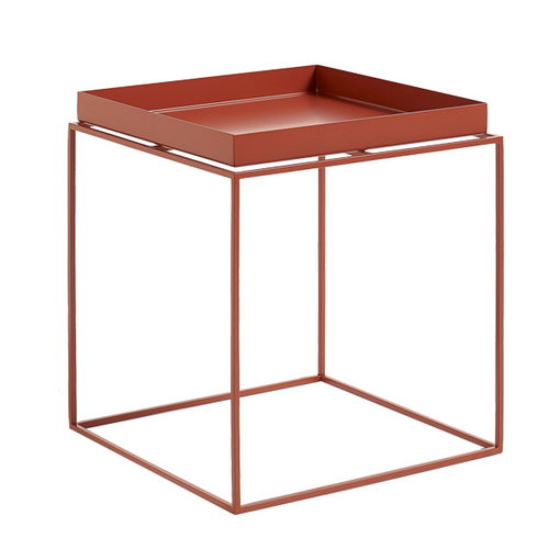Hay Tray table medium square, red
