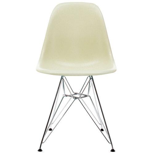 Vitra Eames DSR Fiberglass tuoli, parchment - kromi