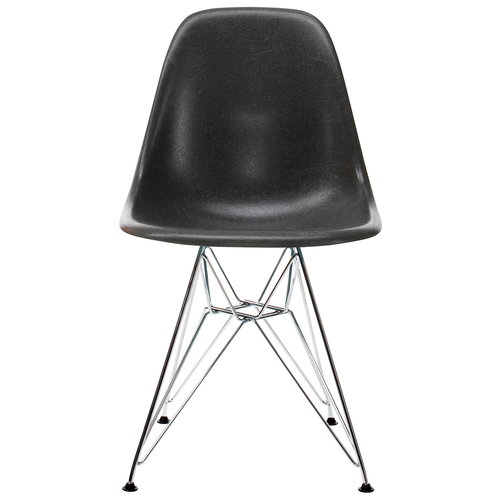 Vitra Eames DSR Fiberglass Chair, elephant hide grey - chrome