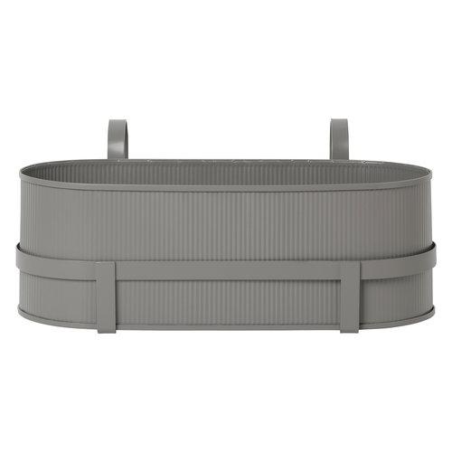 Ferm Living Bau balcony box, warm grey