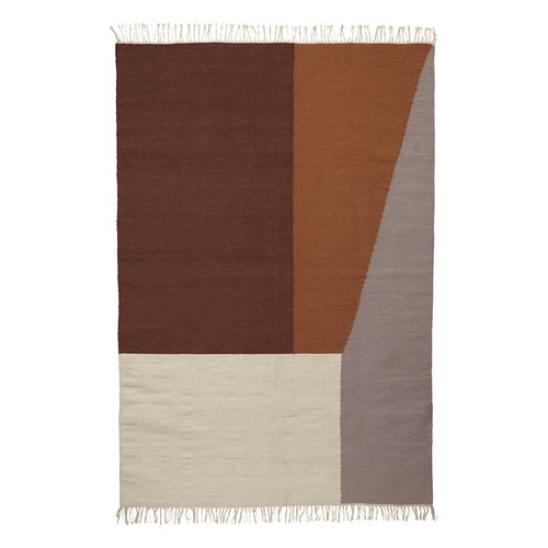 Ferm Living Kelim rug, Borders, large