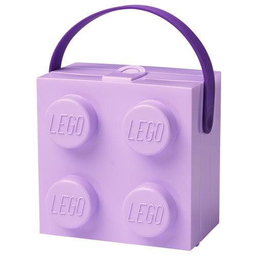 Room Copenhagen Lego lunch box with handle, lavender