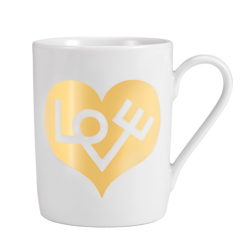 Vitra Mug, Love Heart, gold