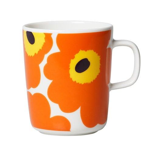 Marimekko  Oiva - Unikko muki 2,5 dl, valkoinen - oranssi - lila