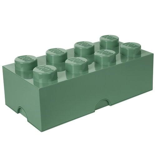 Room Copenhagen Lego säilytyslaatikko 8, hiekanvihreä