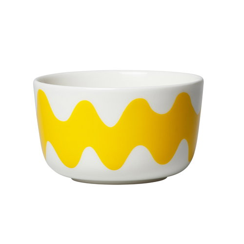 Marimekko Oiva - Lokki bowl 2,5 dl, white - yellow