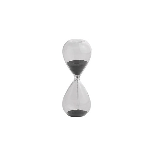 Hay Time hourglass, small, black