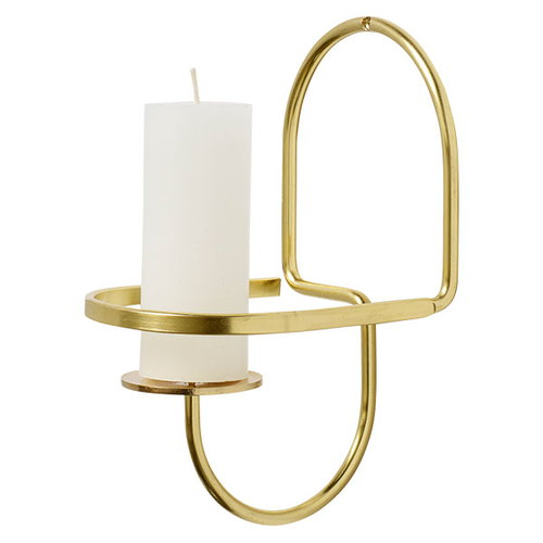 Hay Lup Wall Half-round, brass
