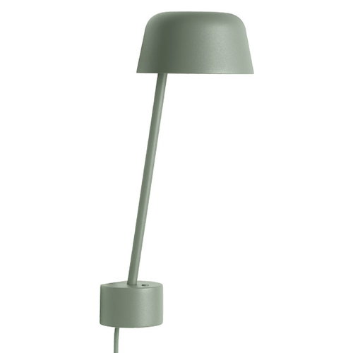 Muuto Lean wall lamp, dusty green
