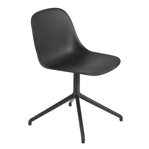 Muuto Fiber side chair, swivel base, black