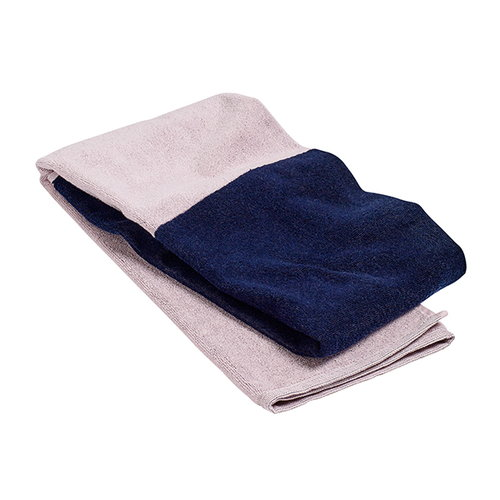 Hay Compose bath towel, navy blue