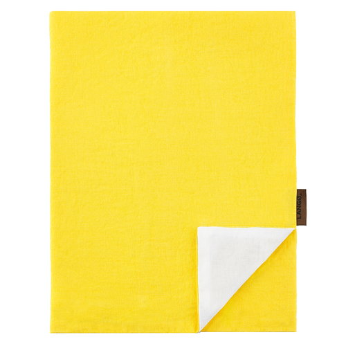 Lang� Duvet cover, linen, yellow - white