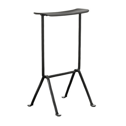Magis Officina bar stool, medium, galvanized, black