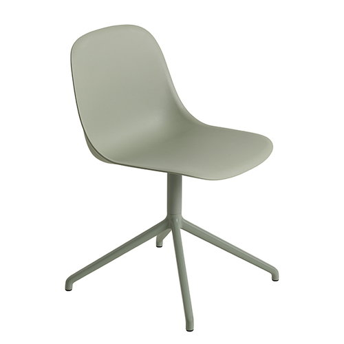 Muuto Fiber side chair, swivel base, dusty green