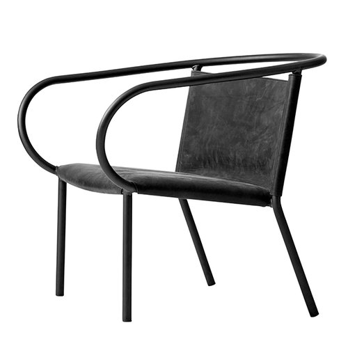 Menu Afteroom lounge chair, black nubuck