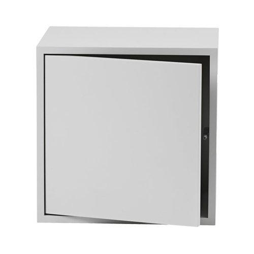 Muuto Stacked module with door, medium, light grey
