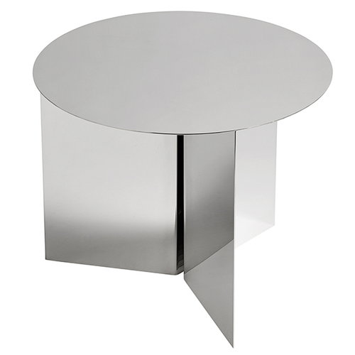 Hay Slit table round, steel