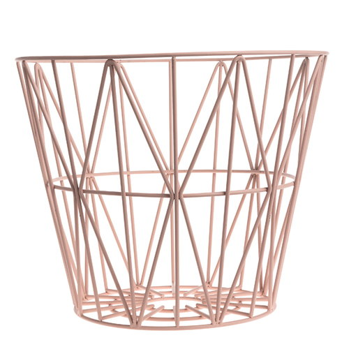 Ferm Living Wire basket, rose