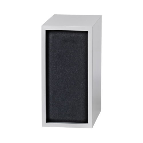 Muuto Stacked acoustic panel, small, black melange
