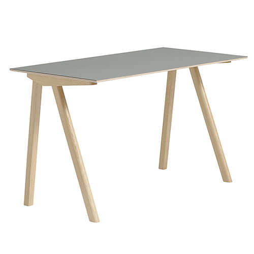 Hay Copenhague CPH90 desk, matt lacquered oak - grey linoleum