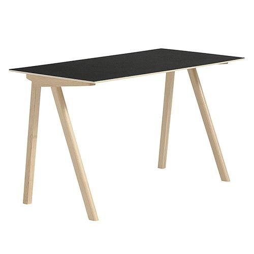 Hay Copenhague CPH90 desk, matt lacquered oak - black linoleum
