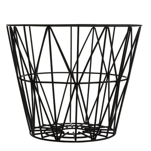 Ferm Living Wire basket, black