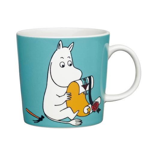 Arabia Moomin mug Moomintroll, turquoise