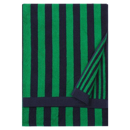 Marimekko Kaksi Raitaa bath towel, dark blue - green