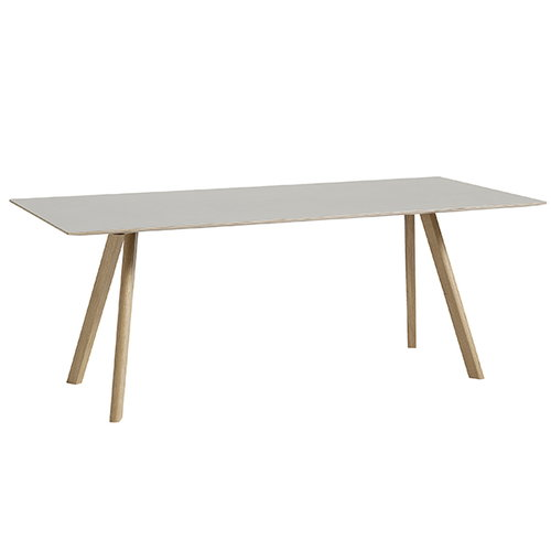 Hay Copenhague CPH30 table 200x90 cm, soaped oak-white lino