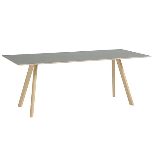 Hay CPH30 table 200x90 cm, matt lacquered oak - grey