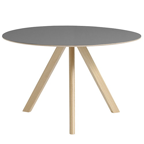 Hay Copenhague CPH20 round table 120cm, matt lacq. - grey lino
