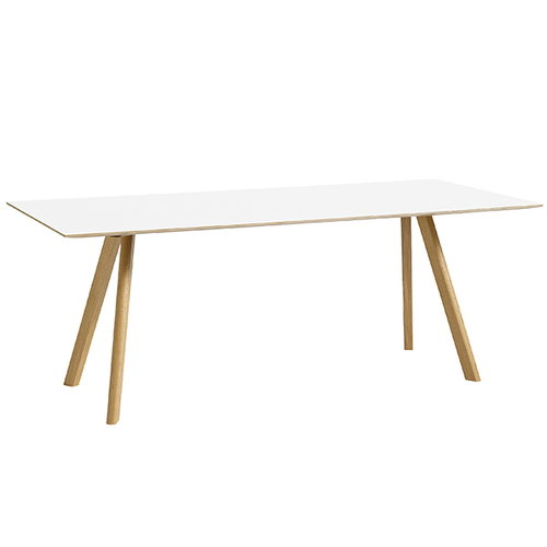 Hay CPH30 table 200x80 cm, lacquered oak - white laminate