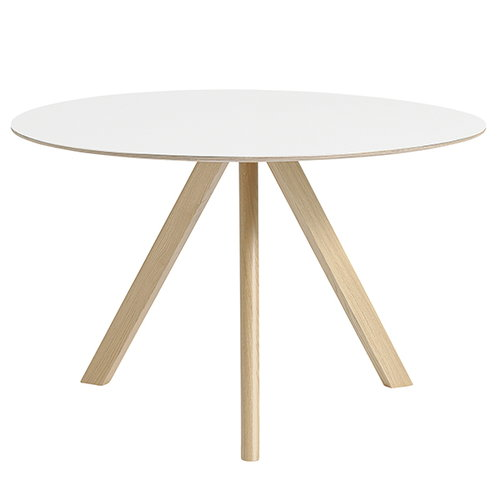 Hay Copenhague CPH20 round table 120cm, matt lacq. oak - white lam.