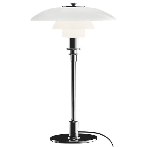 Louis Poulsen PH 3/2 table lamp, chrome plated