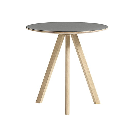 Hay CPH20 round table 50 cm, matt lacquered oak - grey