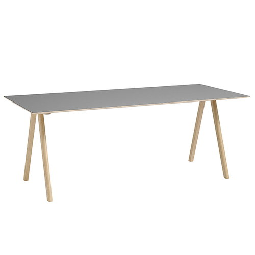 Hay CPH10 table 160x80 cm, matt lacquered oak - grey lino