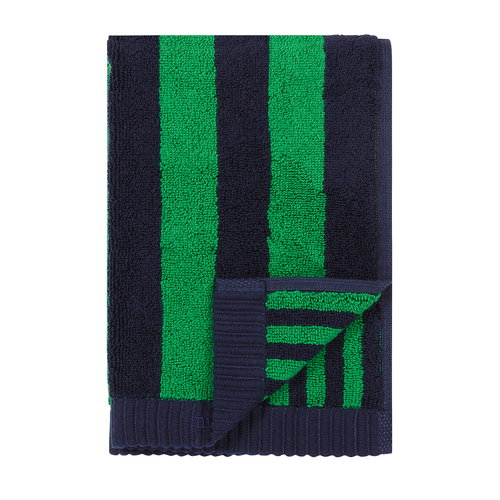 Marimekko Kaksi Raitaa guest towel, dark blue - green