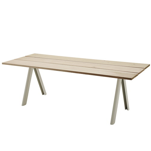 Skagerak Overlap table, white legs