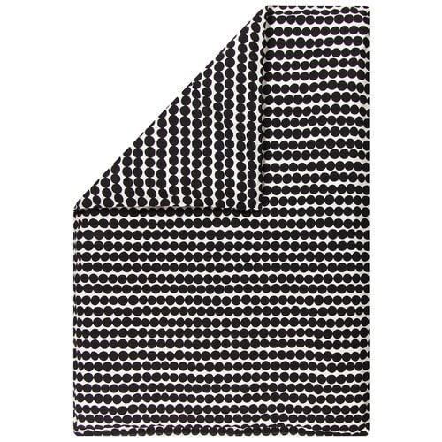 Marimekko Räsymatto pussilakana 150x210 cm, valkoinen - musta