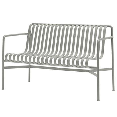 Hay Palissade dining bench, light grey