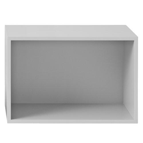 Muuto Stacked shelf module with backboard large, light grey