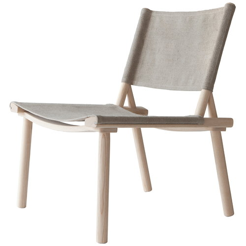 Nikari December XL chair, ash - linen canvas